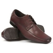 Base London Uomo Roulette Cerate Scarpe Stringate In Pelle Marrone