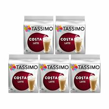 Tassimo T discs Cases of 5 Packets Costa Packs Cups Pods Latte Cappuccino Aercna