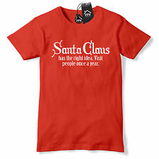 Visit Once a Year Funny SANTA CLAUS T Shirt Family Rude Geek Festive Tee CH33