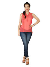 SOIE Slv Less Top With Pleats (6170(I)PINK)