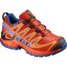 Chaussures De Randonnee Salomon Junior Xa Pro 3d Cswp Lava Orange/blue