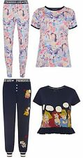 Primark Ladies Womens DISNEY PRINCESS LIFE Pyjamas T Shirt  PJ Leggings UK S-XL