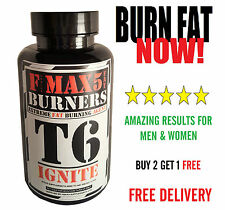 T6 IGNITE FAT BURNERS CAPSULES-STRONGEST LEGAL SLIMMING/DIET & WEIGHT LOSS PILLS