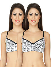 SOIE Women's White Cotton Bras Pack of 2 (COMBO CB-318P-2 (CO-4))