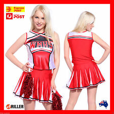 Ladies Glee Cheerleader Party Costume Fancy Dress Outfit School Girl Uniform AU