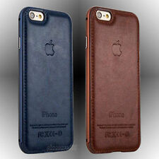 * FOR APPLE iPHONE 6,6S * Luxury Leather Back + Aluminum Metal Bumper Case Cover