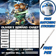 Reusable Behaviour Reward sticker Chart Lego Star Wars, Stickers & pen. MAGNETIC