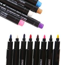 8 MultiColor Permanent Marker Pen DIY Color Fabric Textile Clothes T-Shirt Shoes