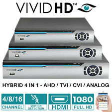 TVI 1080P/720P DVR 4/8/16 CHANNEL VIDEO RECORDER CCTV HD NETWORK CLOUD HDMI *