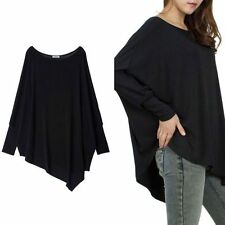 Casual Cotton Tops Blouse Autumn Women Batwing Long Sleeve Tee T Shirt Plus Size