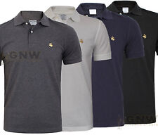 BROOKS BROTHERS HERREN LEISTUNG POLO T-SHIRT GELBGOLDEN FLEECE S zu