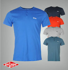 Lee Cooper Essential 3 Button Mens T Shirt