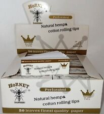 HORNET NATURALE 'BIANCO' & 'NON SBIANCATE' CANAPA & COTONE PERFORATE PER ROLLARE