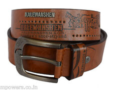 PU leather Brown Belt for Men Gents Boys Men's belt with double stitching