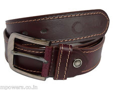 REAL 100% GENUINE LEATHER MAROON BELT FOR MEN'S / GENT'S OFFICIAL & FORMAL WEAR