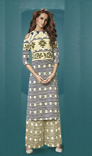 Ethnic Wear Readymade Cream Palazzo With Tunic Set - 13259