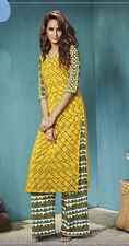 Office Wear Readymade Yellow Plazzo With Tunic Set - 13258