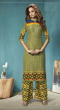 Festival Wear Readymade Green Plazzo With Tunic Set - 13262