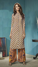 Office Wear Readymade Multicolour Palazzo With Tunic Set - 13266