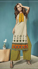 Casual Wear Readymade Beige Palazzo With Tunic Set - 13267