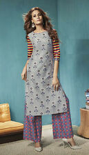 Casual Wear Readymade Grey Palazzo With Tunic Set - 13270