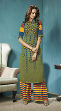 Ethnic Wear Readymade Green Palazzo With Tunic Set - 13272