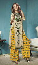 Festival Wear Readymade Beige Palazzo With Tunic Set - 13271