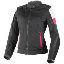 Jacket moto Dainese Air Frame Tex lady nero fucsia perforated spring summer