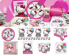 Hello Kitty Pink Girls Birthday Decorations Plates Cups Napkins Tablecover