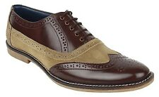 Guava Leather Brogue Shoes