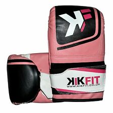 KIKFIT Boxing Punch Bag Leather Gloves Sparring Mitts Muay Thai MMA Kick Fight