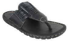 Guava Leather Slippers - Black   Mens Black Leather sandals