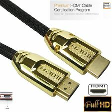 1m - 10m Premium HDMI Cable High Speed With Ethernet v2.0 FULL HD 4K 3D ARC GOLD