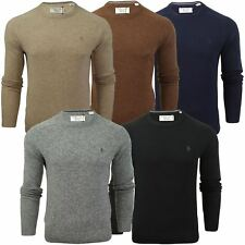 Mens Lambswool Crew Neck Jumper by Original Penguin
