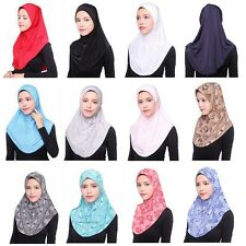 Muslim Women Fashion Soft Scarf Islamic Hijab Inner Cap Long Wrap Headwear New