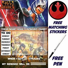 Reusable Behaviour Reward Chart Star Wars rebels free Stickers & pen MAGNETIC