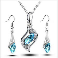 New Limited Wedding Wholesale Austrya Crystal Jewelry Sets Water Drop Pendants N
