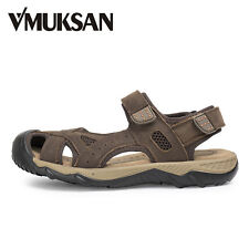 Vmuksan Big Size 38-48 Men Sandals Real Leather Top Quality Summer Sandalias New