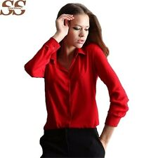 5 Colors Work Wear 2017 Women Shirt Chiffon Blusas Femininas Tops Elegant Ladies