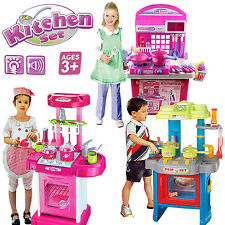 ELECTRONIC COOKING PLAY KIDS PORTABLE GIRLS BOYS KITCHEN TOY SET SOUND LIGHTS