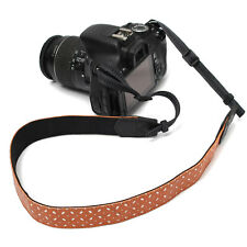PU Camera Shoulder Neck Belt Strap For SLR DSLR Nikon Canon Sony