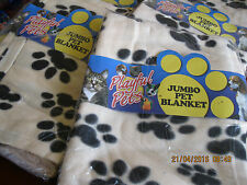 Cosy Playful Pets Jumbo Pet Blanket with Paw Print Design