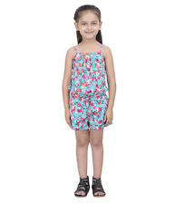 Oxolloxo Girl's Floral Button Playsuit (W16234GOV001)