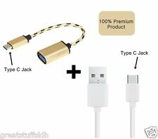 Type C OTG + Data/Charging Cable for Letv/Leeco/Le1s/Le 2/Max/Zuk/Z1/Mi5/