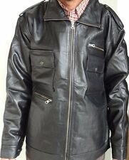 Pure Leather Jacket (100% Genuine  Leather ) Black