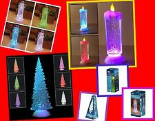 Colour Changing LED Light Up Glitter Water Christmas Xmas Decoration Ornament