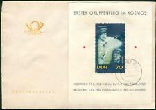 Germany GDR rare s´sheet FDC outer space Weltraum ak93