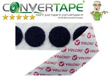 BLACK-Genuine VELCRO® Brand PS14 Self Adhesive Hook & Loop Dots/Coins 22mm/2.2cm