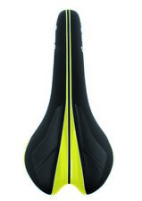VELO Sella Senso Competition 1376 nero con inserti giallo glossy corsa mountain