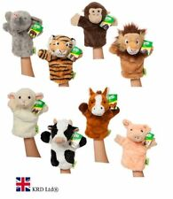 "10"" ANIMAL PUPPETS Hand Glove Wild Farm Puppet Soft Plush Kids Baby Toy Gift UK"